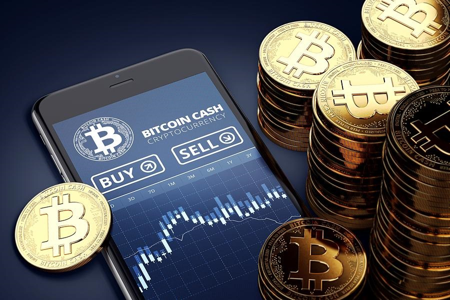 Bitcoin Cash cryptocurrency, Bitcoin (icon), sell, buy